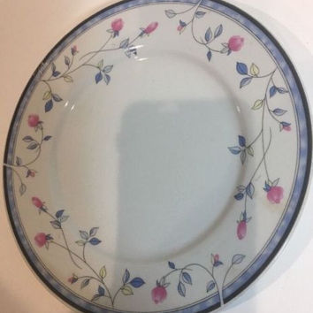 Florete By Sonata Fine Porcelain Set Of 4 Dinner Plates Made in China