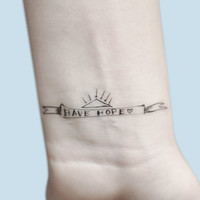 Have Hope Temporary Tattoo, Temporary Tattoo Quote, Self Care Kit, Motivational Tattoo, Motivational Quote, Gift For Her, Birthday Gift