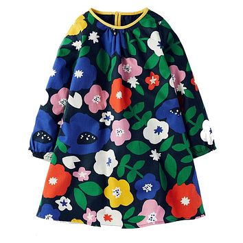 Baby Girl Dress 100% Cotton  Princess Dress Enfant Christmas Autumn Kids Dresses for Girls Children Clothes Vestidos