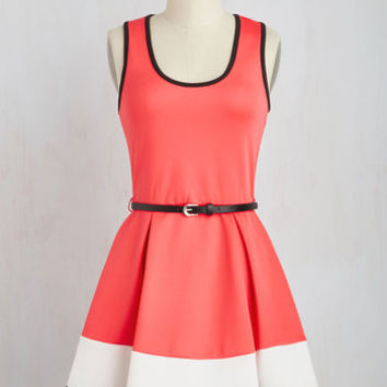 Colorblocking Short Length Sleeveless Fit & Flare Do Me Bright Dress