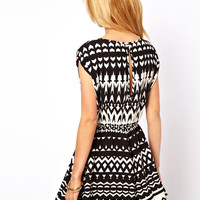 ASOS Playsuit in Monochrome Print