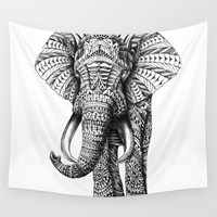 Ornate Elephant Wall Tapestry by BIOWORKZ