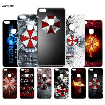 BiNFUL Resident Evil Umbrella Corporation Clear Case Cover Shell for Huawei P6 10 9 8 Lite 2017 Plus Mate 8 9 10 S Lite Pro