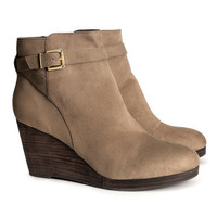 Wedge heel boots - from H&M