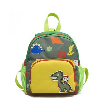 Boys Backpack Bag Toddler Kids cartoon dinosaur ,Baby Girls Toddler Pre School canvas Bag with Safety Harness AT_61_4