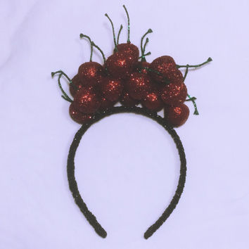 "xoCurlub ""Cherry Queen"" Fruit Headband - Marina and the Diamonds FROOT Inspired Accessories"