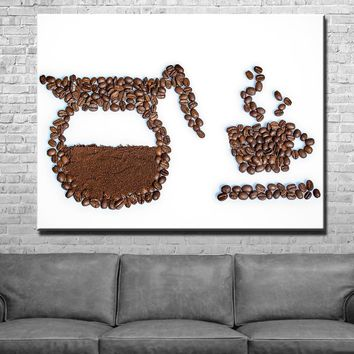 Freshly Brewed Kitchen and Dining Room Wall Decor Canvas Set