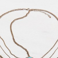 AEO Women's Turquoise Head Chain (Gold)