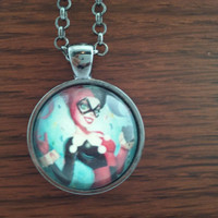 Harly quinn,Harley Quinn Necklace,Harley Quinn pendant Harley Quinn jewelry,Joker,Batman
