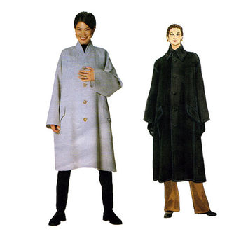 1990s ISSEY MIYAKE COAT Pattern Vogue Coat Pattern Oversized Avant Garde Vogue 2038 Designer Original Womens Sewing Patterns Size 8 to 18