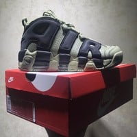 Best Online Sale Nike Air More Uptempo Retro Sport Baskerball Olive Green Sneaker 921948-030
