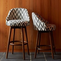 Saddle Bar + Counter Stool - Slate