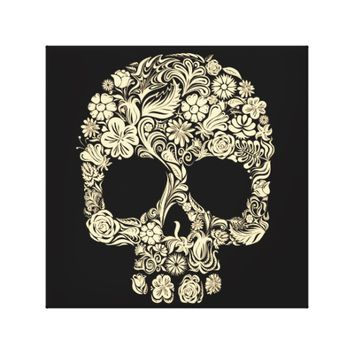 Floral Sugar Skull Canvas Print