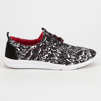 TOMS x Prabal Gurung Black Snow Leopard Del Rey Womens Shoes | Sneakers