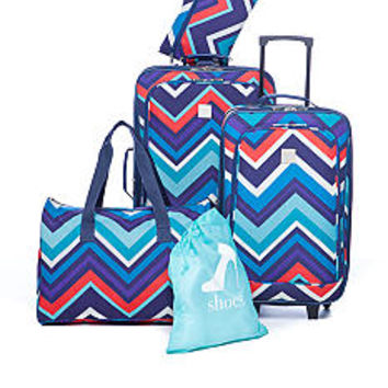 New Directions® 5 Piece Luggage Set - Zig Zag - Belk.com