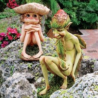 Design Toscano Svenska and Theodor The Garden Trolls Statues