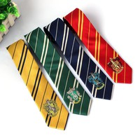 4 Color Fashion Tie Clothing Accessories Gryffindor/Slytherin /Hufflepuff /Ravenclaw College Style Tie Men Gift