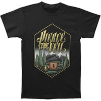 Pierce The Veil Men's  Camp T-shirt Black Rockabilia