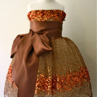 Copper Constellation Flower Girl Dress by DolorisPetunia on Etsy