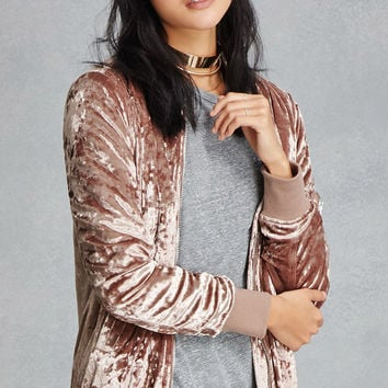 Twelve Crushed Velvet Bomber