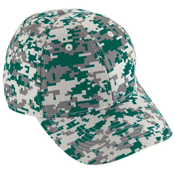 Augusta 6208 Camo Cotton Twill Cap - Forest Camo