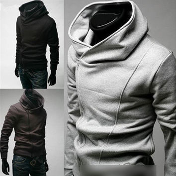 Mens  Fashion Slim Fit Sexy Top Designed Hoodies Jackets Coats  3Color 4Size