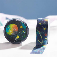 DIY 10M Creative Cute Kawaii Outer Space Decorative Washi Tape For Home Decoration Scrapbooking Free Shipping 779