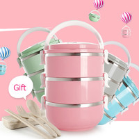304 Stainless Steel Lunch Box Food Thermo Lunch box for Kids Thermal Lunch Box Bento Japanese Lunchbox chinese tableware