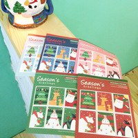 Christmas Stamp Sticker Set