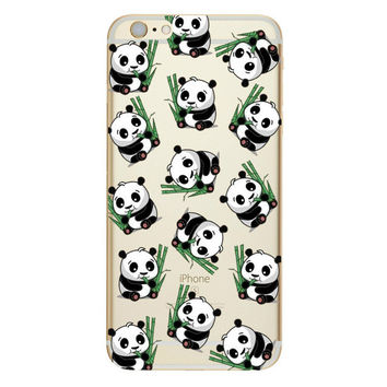 Lots of baby Pandas on green branch Phone Case For iPhone 7 7Plus 6 6s Plus 5 5s SE