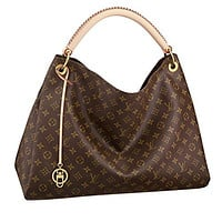 Louis Vuitton crossbody  handbag  Classic  Simple  Wanelo  ladies  fashion Best Seller formal Monogram Canvas Artsy MM Handbag Article:M40249 Made in France