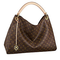 LV Women Shopping Leather Louis Vuitton Monogram Canvas Artsy MM Handbag Article:M40249 Made in France