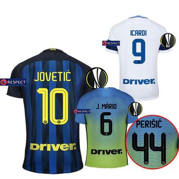 Thailand Quality 16-17 Inter Milan Europa League Soccer Jerseys 2016 JOVETIC home away