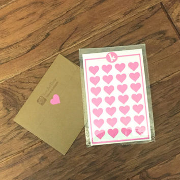 28 Large Heart Stickers - Envelope Seals - Wedding Invitations and Favors - Scrapbooking - Wall safe vinyl decal - DIY - Removable Stickers