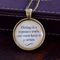 Jane Eyre Quote Necklace. Charlotte Bronte Necklace. Book Jewelry. 18 Inch Chain.