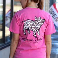 Leopard Proud Pig Tee by SOUTHERN TREND {Crunchberry}