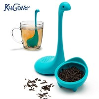 New Cute Monster Tea Infuser Filter Silicone Tea Strainer Herbal Spices Leaf Infuser Teapot Drinkware