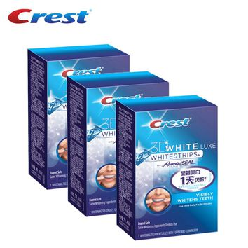 Crest 3D White Whitestrips Oral Hygiene Advanced Teeth Whitening Dental Care Products 3 Boxes 7 Pouches/Box