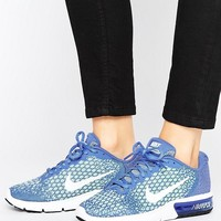 Nike Running Air Max Sequent In Blue at asos.com