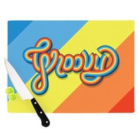 "Roberlan ""Groovy"" Multicolor Typography Cutting Board"