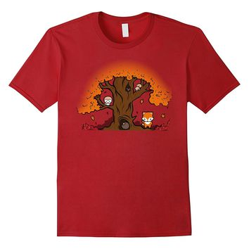 Forest Friends T Shirt - Cute Animal T Shirt - Fox T Shirt