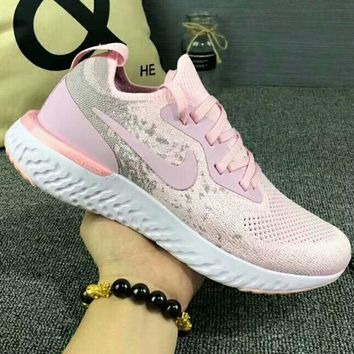 NIKE New fashion sports running women shoe Pink