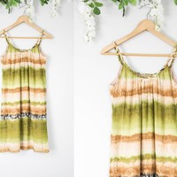 Vintage 70s Earthy Hippie Dress