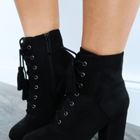Too Quick Booties: Black