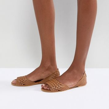 ASOS JUNA Leather Summer Shoes at asos.com