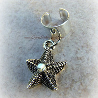 Starfish Ear Cuff, Nautical, Beach, Boho, Direct Checkout, Ready to Ship