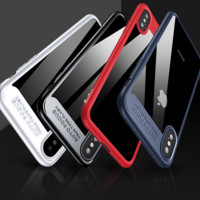 Hard and soft PC mirror anti falling mobile phone case for iPhone X 171031
