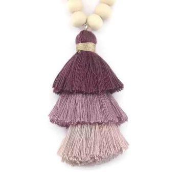 Bree Tassel Necklace Plum