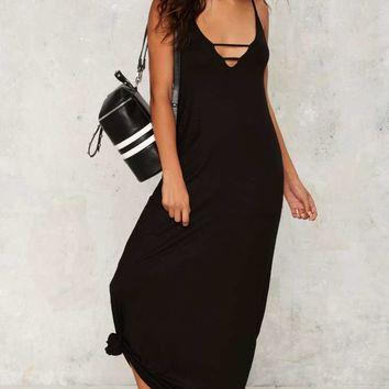 To the Maxi Plunging Dress