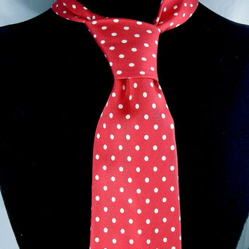 Vintage Red Silk Tie Hilditch & Key